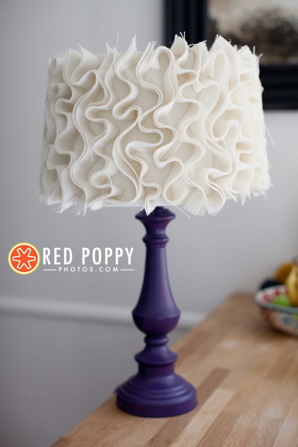 Diy ruffle lampshade los angeles photographer red poppy photography by stacy thiot - Diy lamp shade ...