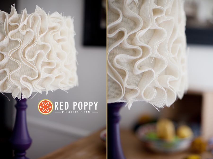 Ruffle Lampshade | Red Poppy Photos by Stacy Thiot | Los Angeles Photographer